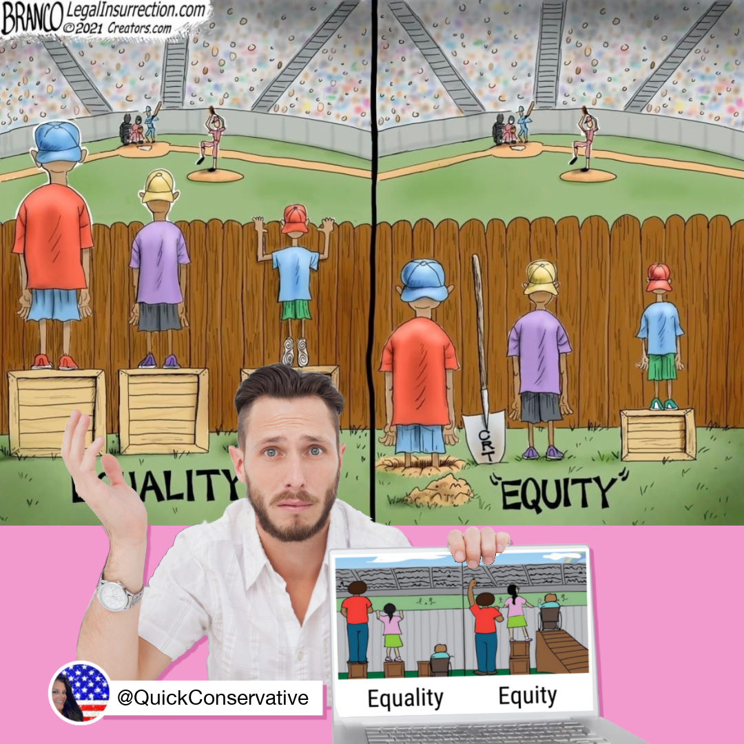 Equity Equality Conservative Cartoon