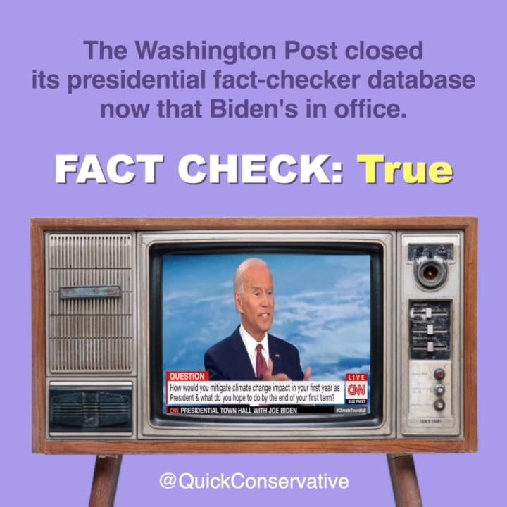 Washington Post Quits Fact Checker