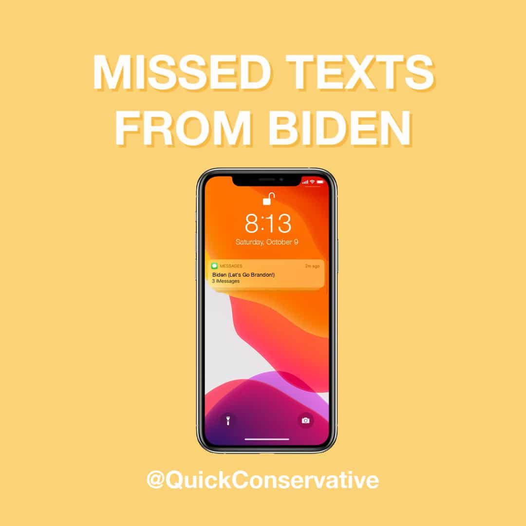 missed texts from biden